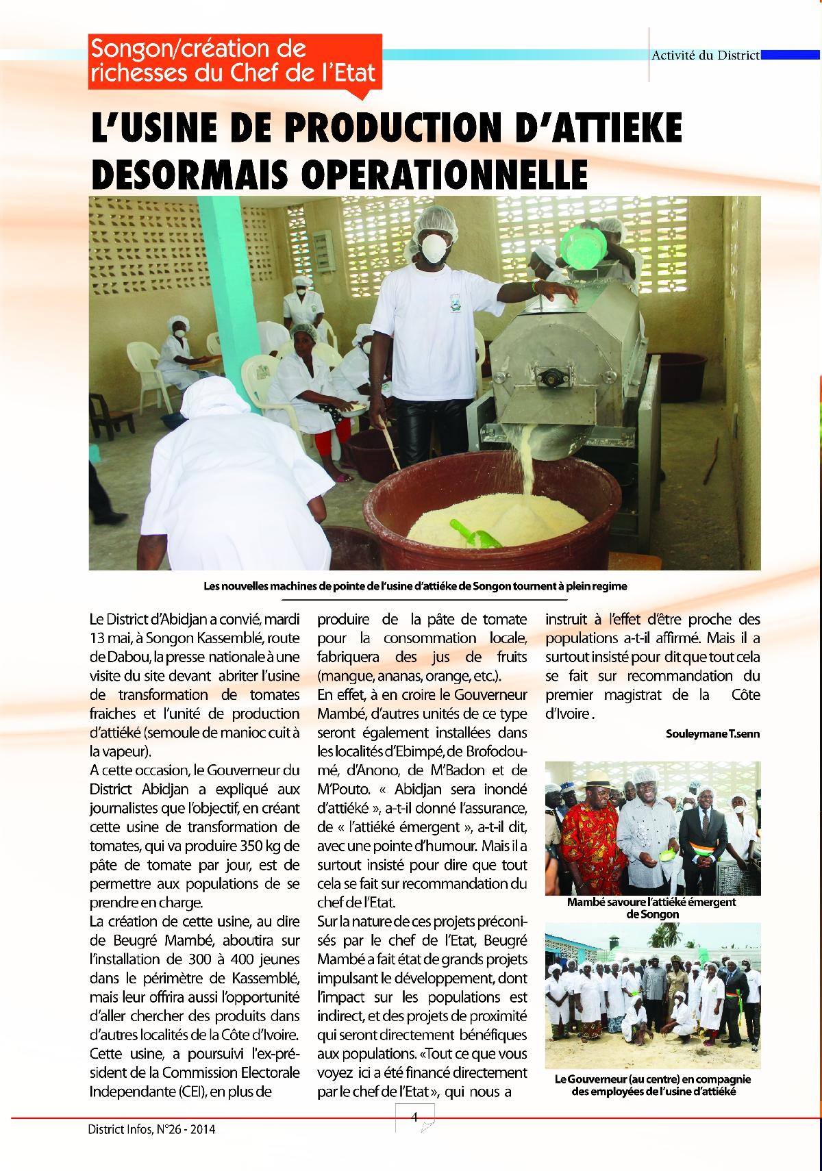 Le journal du district autonome d 39 abidjan n 26 - Le journal d eyragues ...